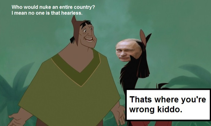 Putins new groove. - meme