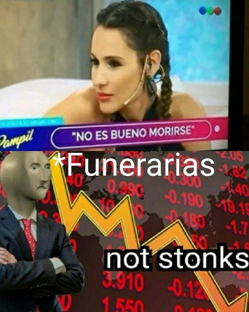 Funerarias en quiebra - meme