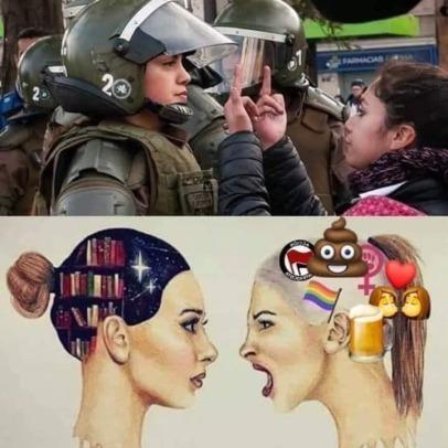 Chad mujer vs generacion de cristal - meme