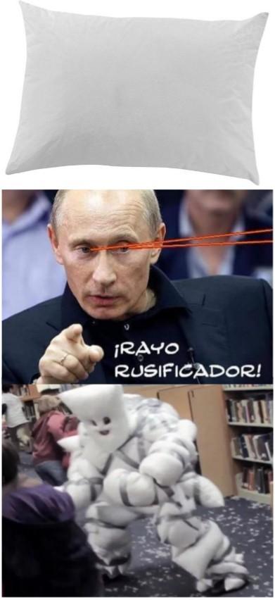 Guerra de almohadas - meme