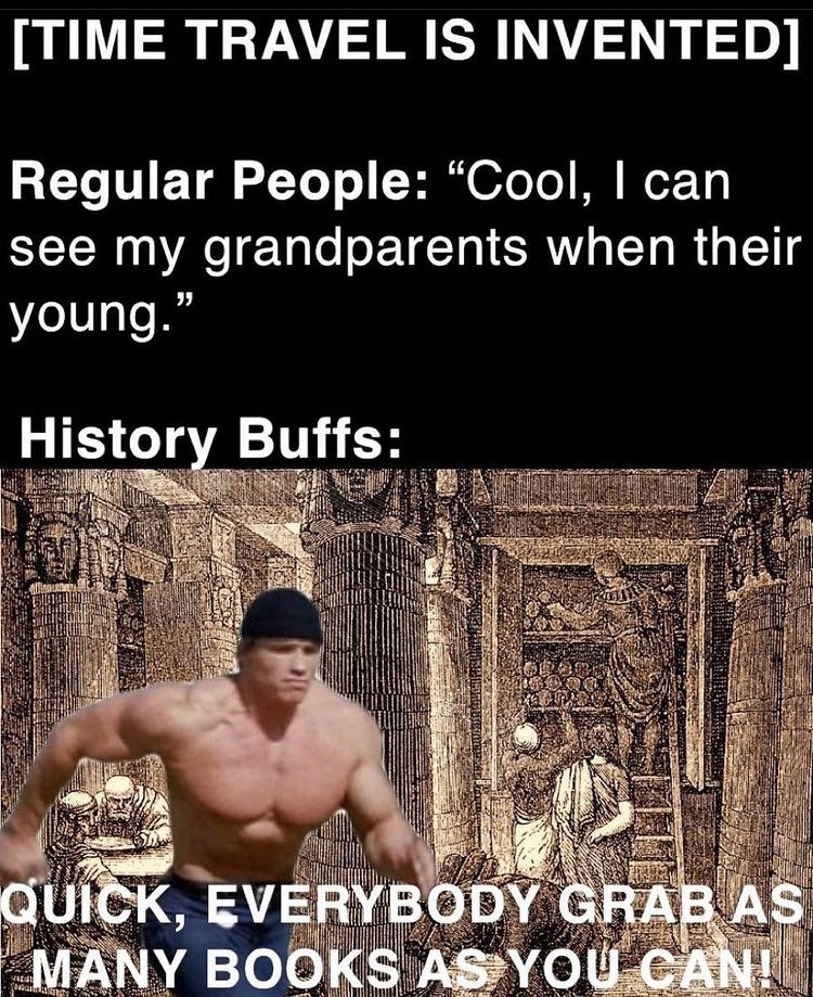 library of Alexandria - meme