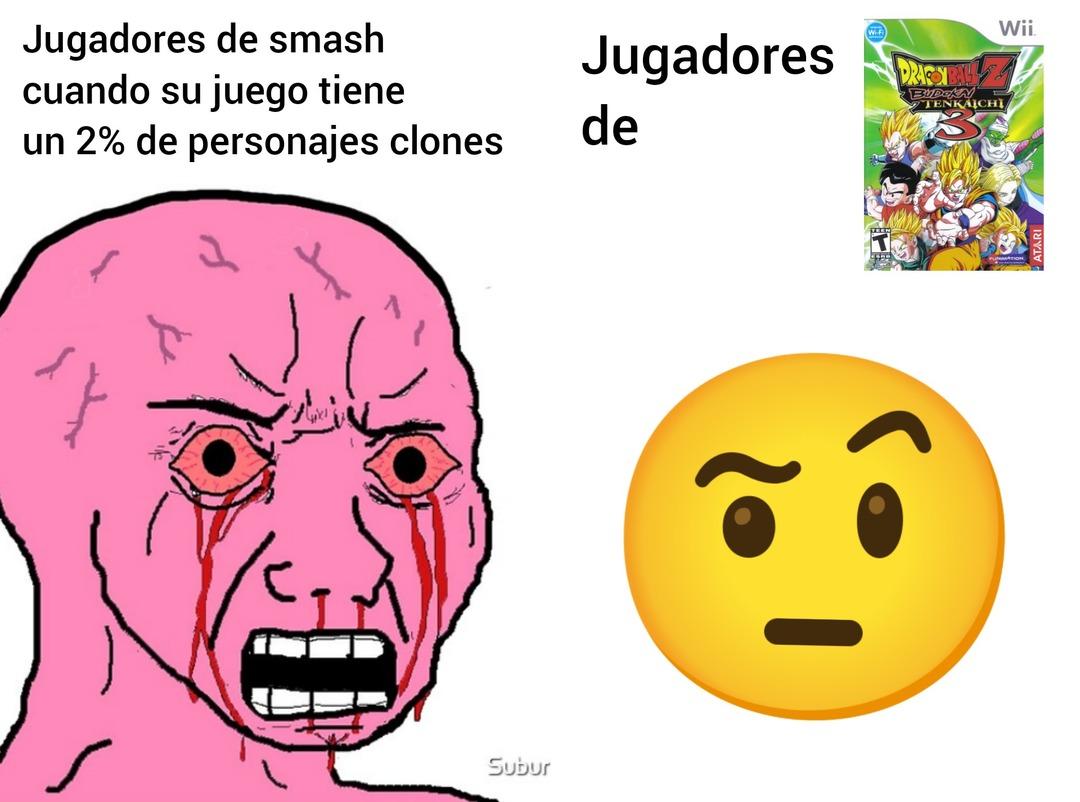 Contexto: presumen de la cantidad de personajes aunque la mayoría son clones - meme