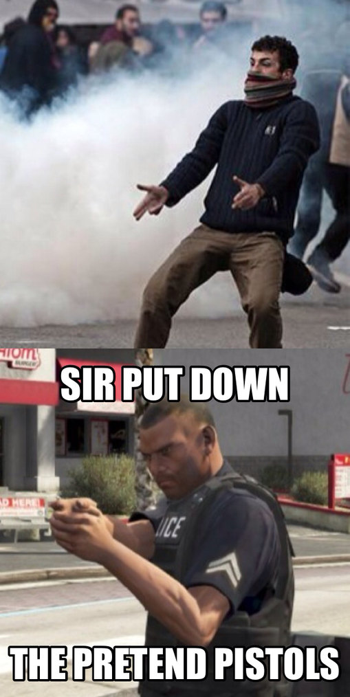 GTA 5 imagination guns - meme