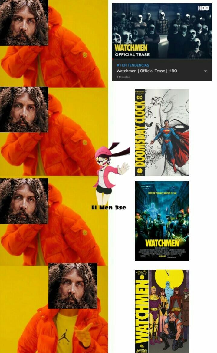 El hombre es Alan Moore, escritor de Watchmen, no le gustan las adaptaciones - meme