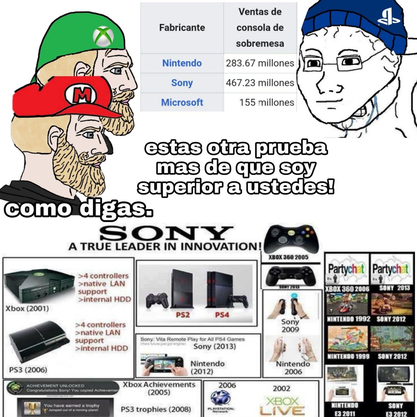 Sony robando ideas desde 1999 - meme