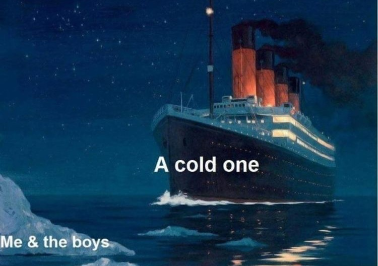 crack open a cold one - meme