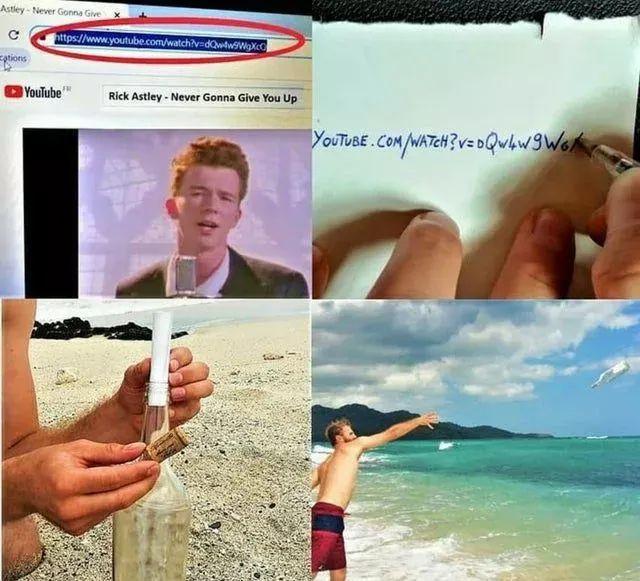 Comment Rick roll Robinson Crusoé - meme