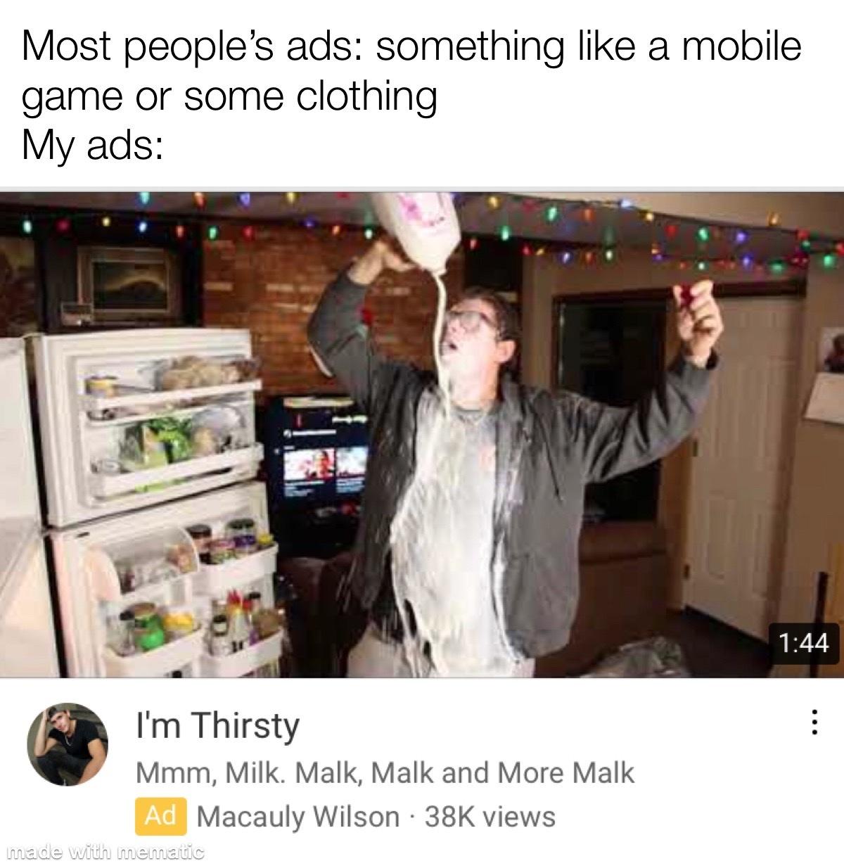 I'm Thirsty - meme