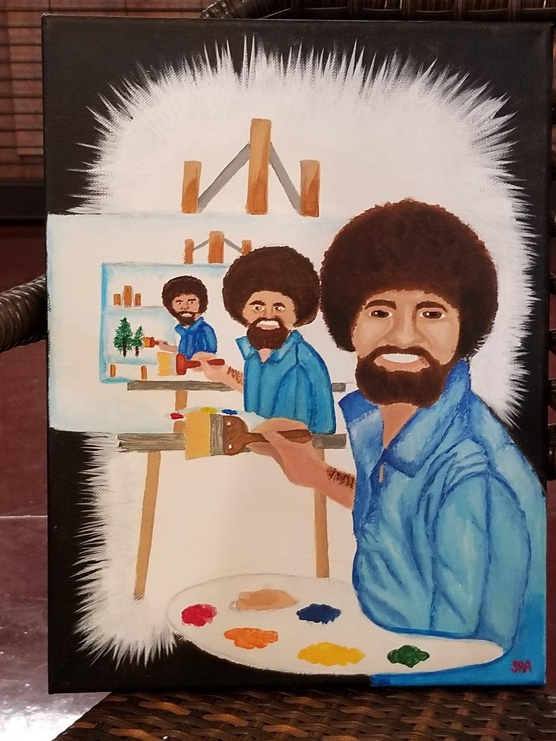 Bob Ross painting Bob Ross painting yet another Bob Ross - meme