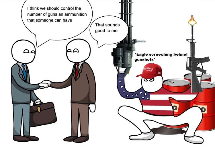 I like guns tho - meme