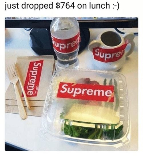 The Supreme Lunch - meme