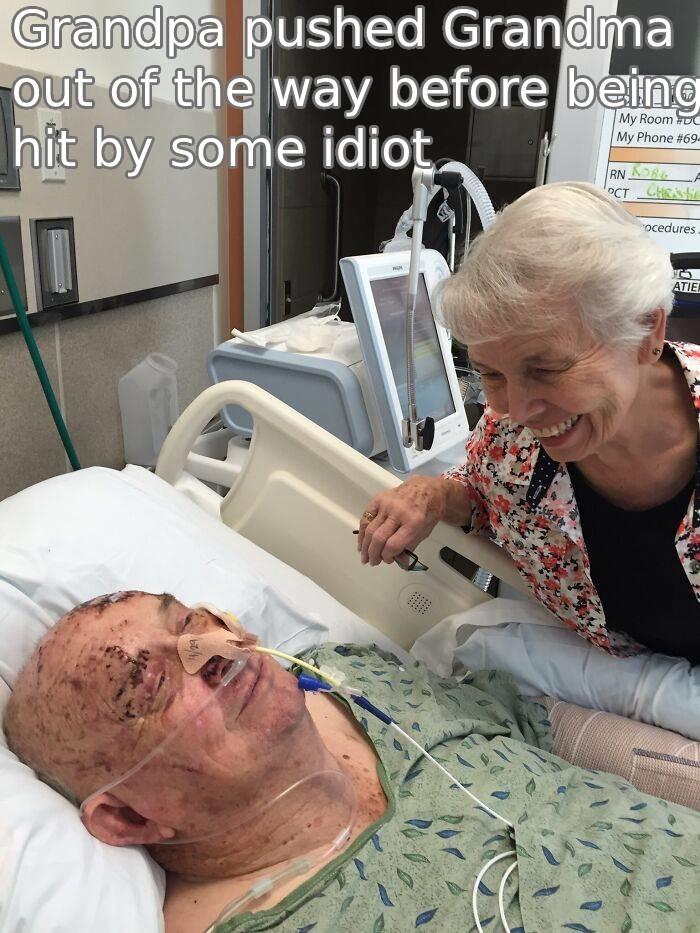 Grandpas a hero - meme