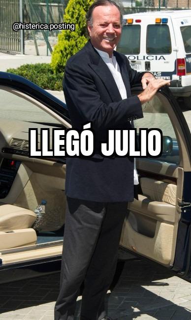 Llegó Julio - meme