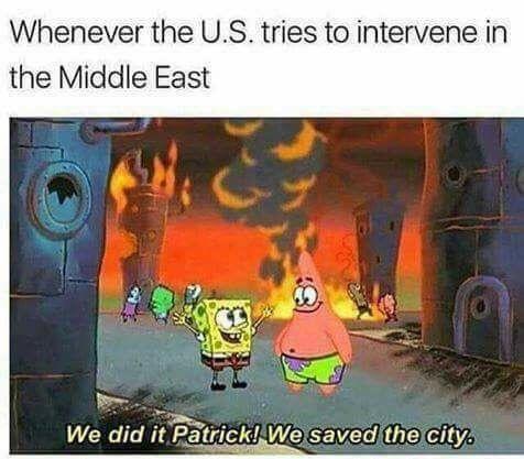USA Intervention - meme