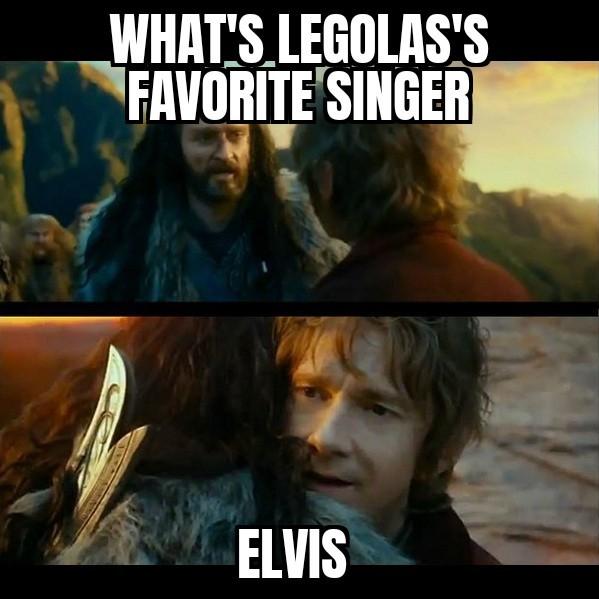 Bilbo dad joke - meme