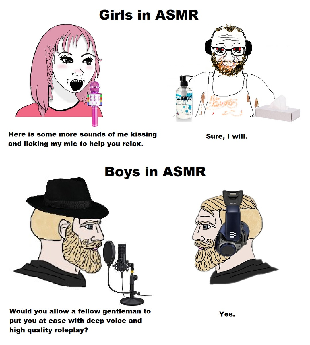 I got inspired by FredsVoice ASMR. - meme