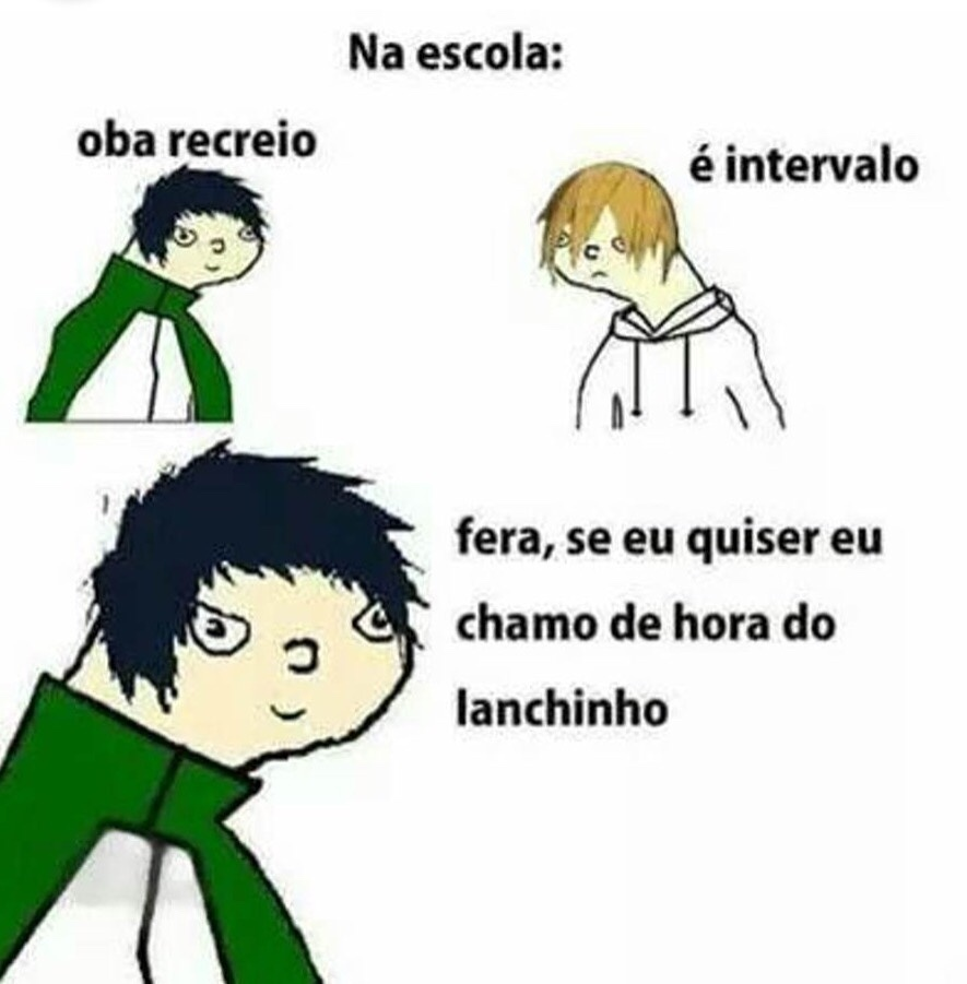 hora do lanchinho - meme