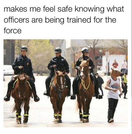 Police forces... CHARGE! - meme