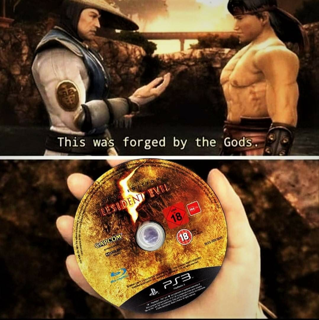 I've been playing Resident Evil since the 90s and this is my favorite. - meme