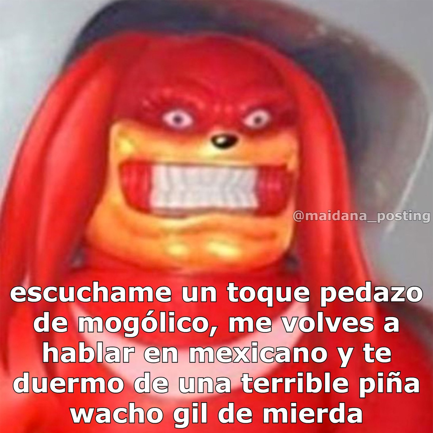 Argentino que hable como mexicano = -1 Argentino - meme