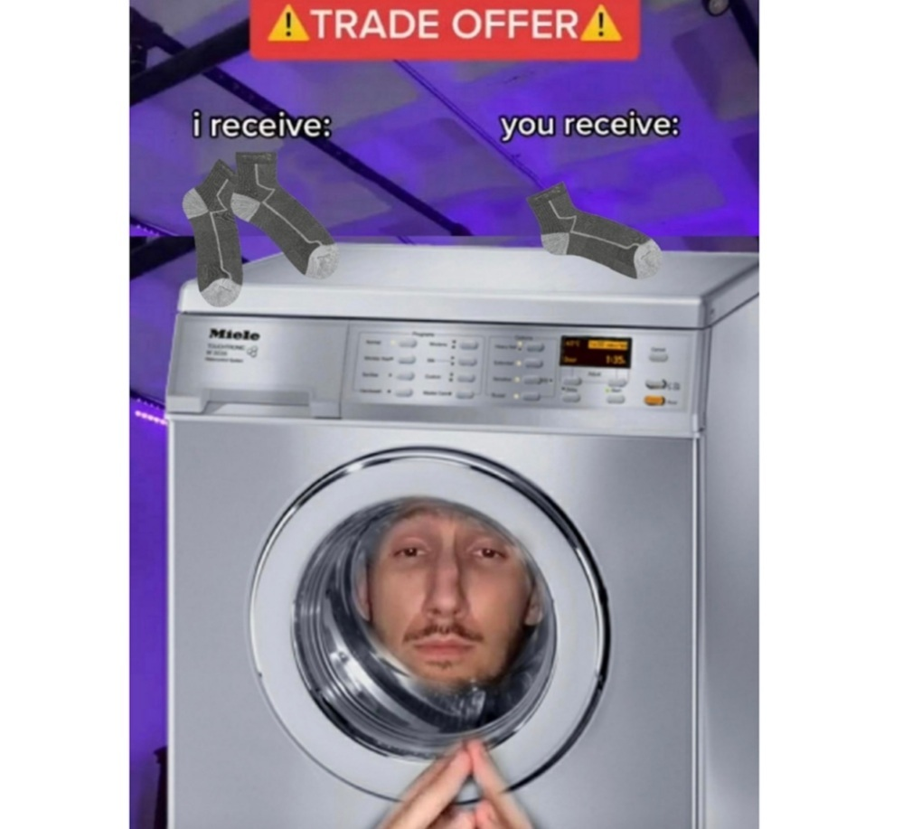 Washing machines are the devil - meme