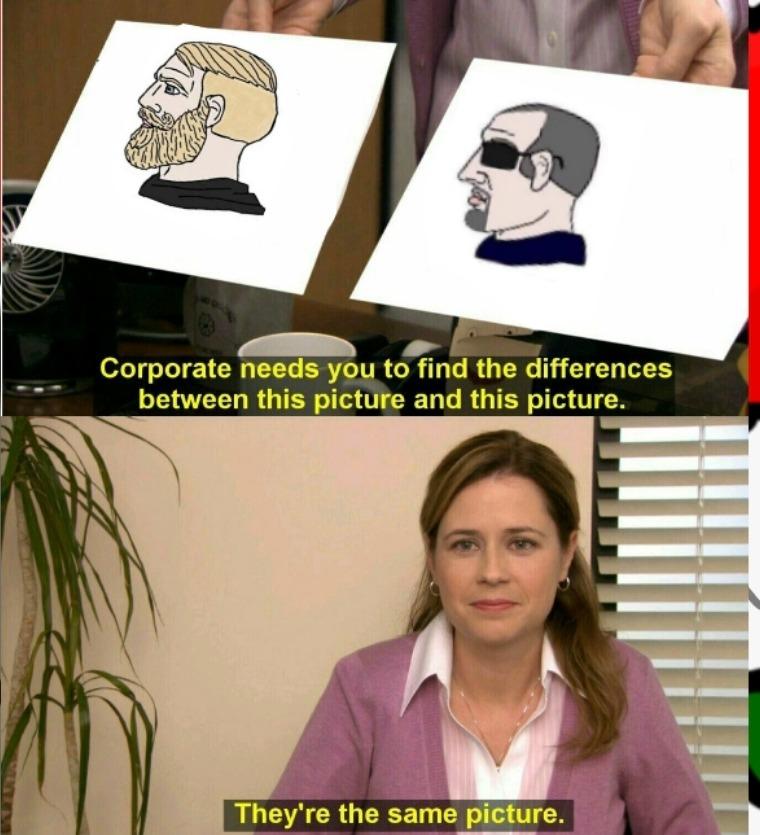 Encuentra las diferencias - meme