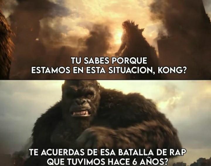 Lagarto tactico vs king kong - meme