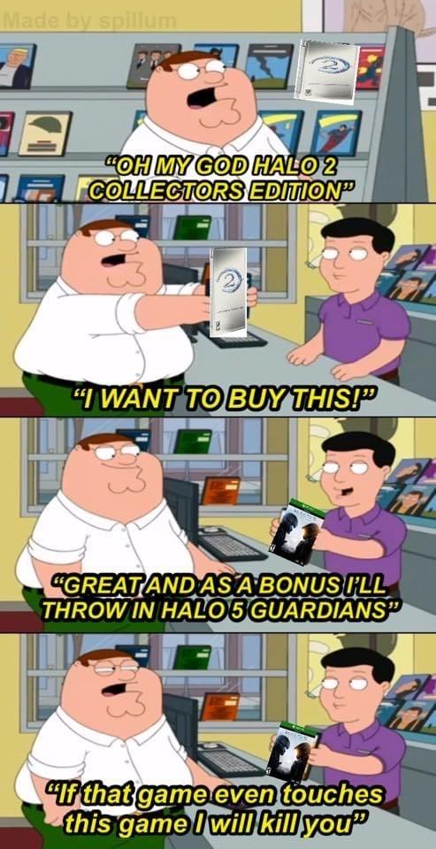 Title's favorite Halo is 3. - meme