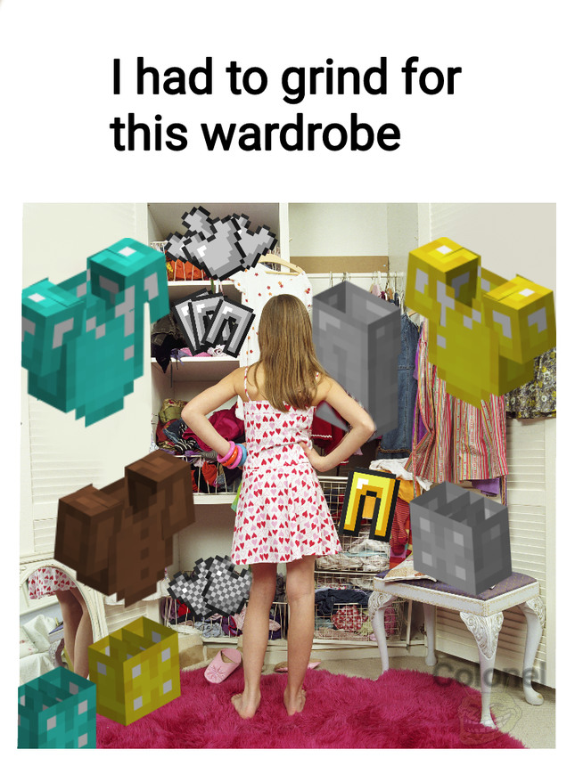 Minecraft Wardrobe - meme