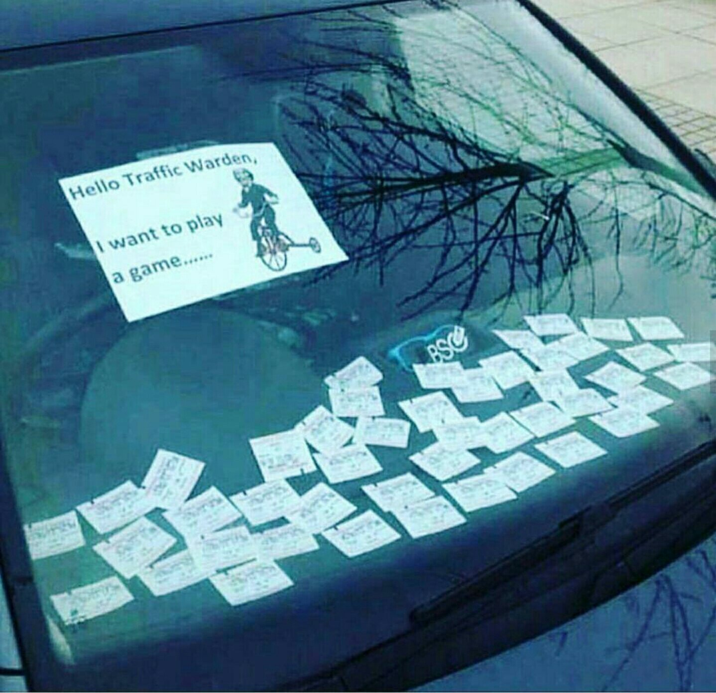 Parking enforcer's day just got worse - meme
