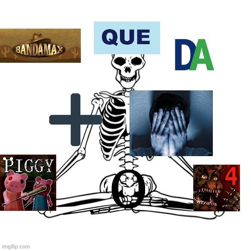 Banda que da mas miedo Piggy o Fnaf 4 - meme