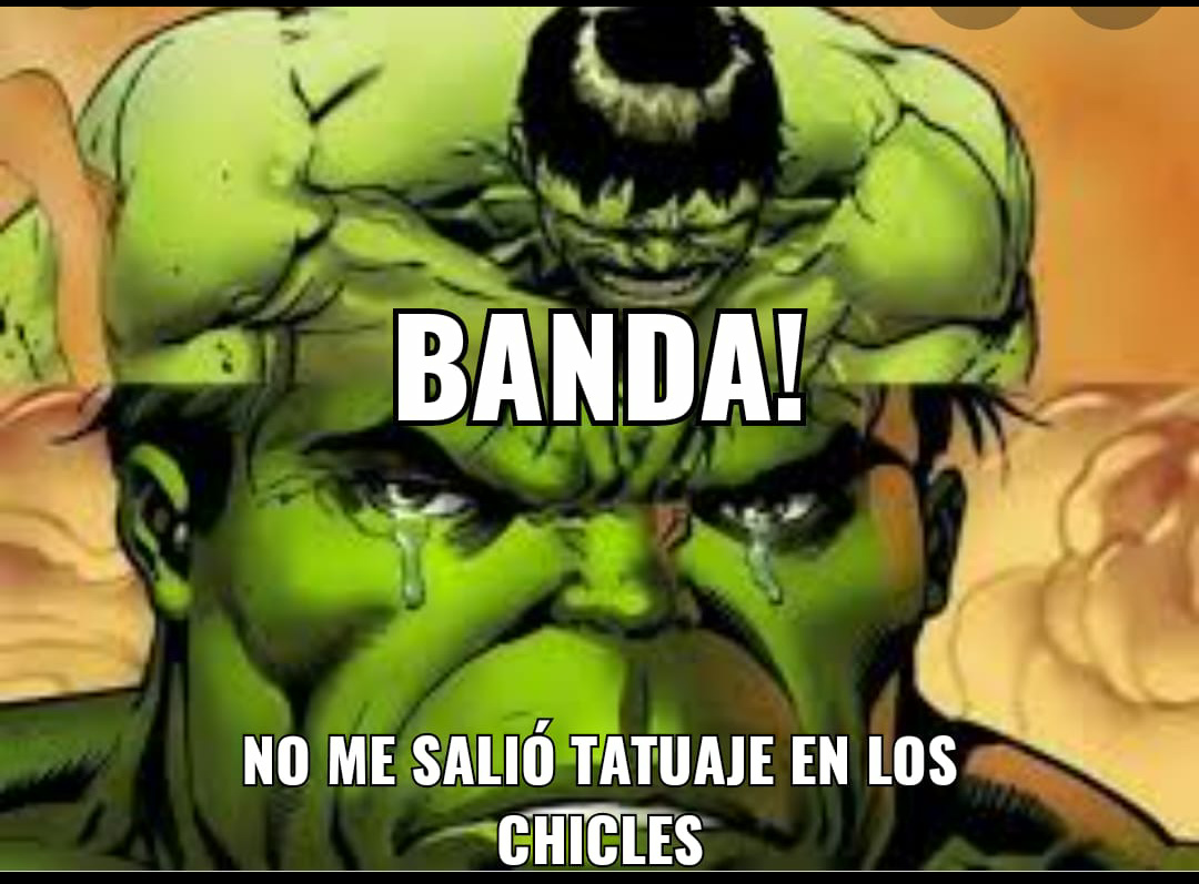 Pobre hulk - meme