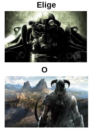 Fallout, para algunos el Elder Scrolls con armas de fuego y mutantes y Elder Scrolls, para algunos el Fallout con magia y bichos mágicos mutantes - meme