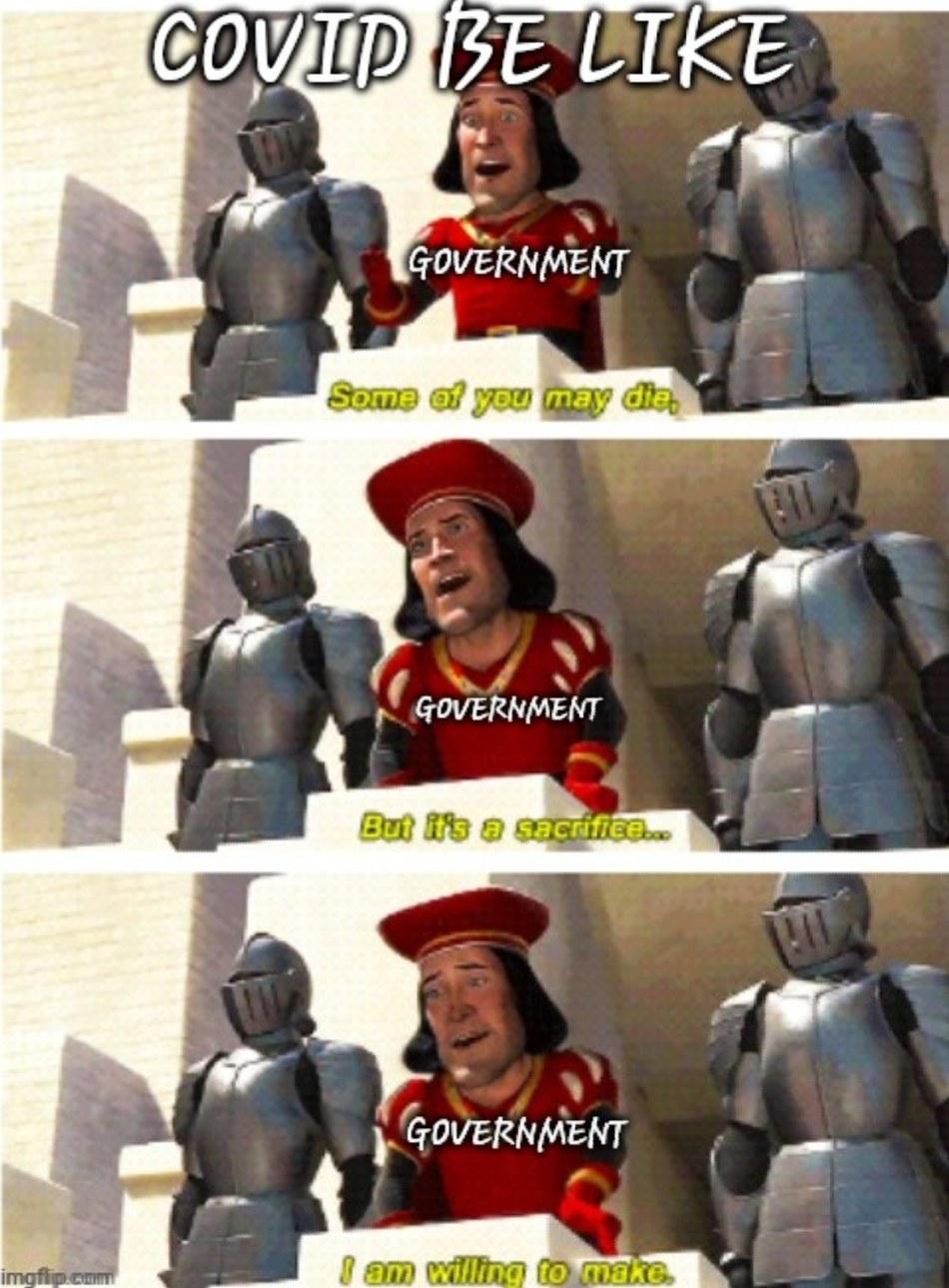 Covid be like - meme