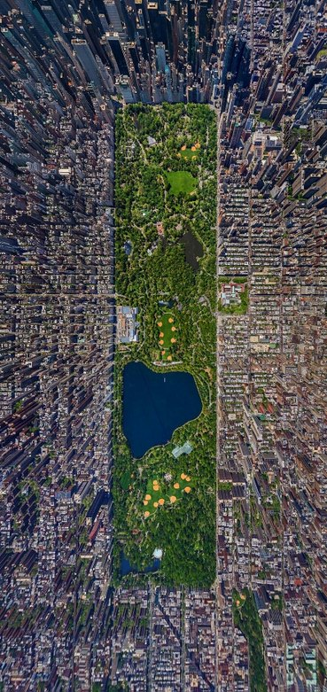 central park in a cool perspective - meme