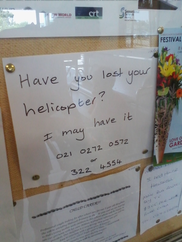 Lost helicopter? - meme