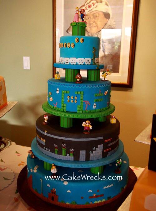 Gâteau Mario - meme