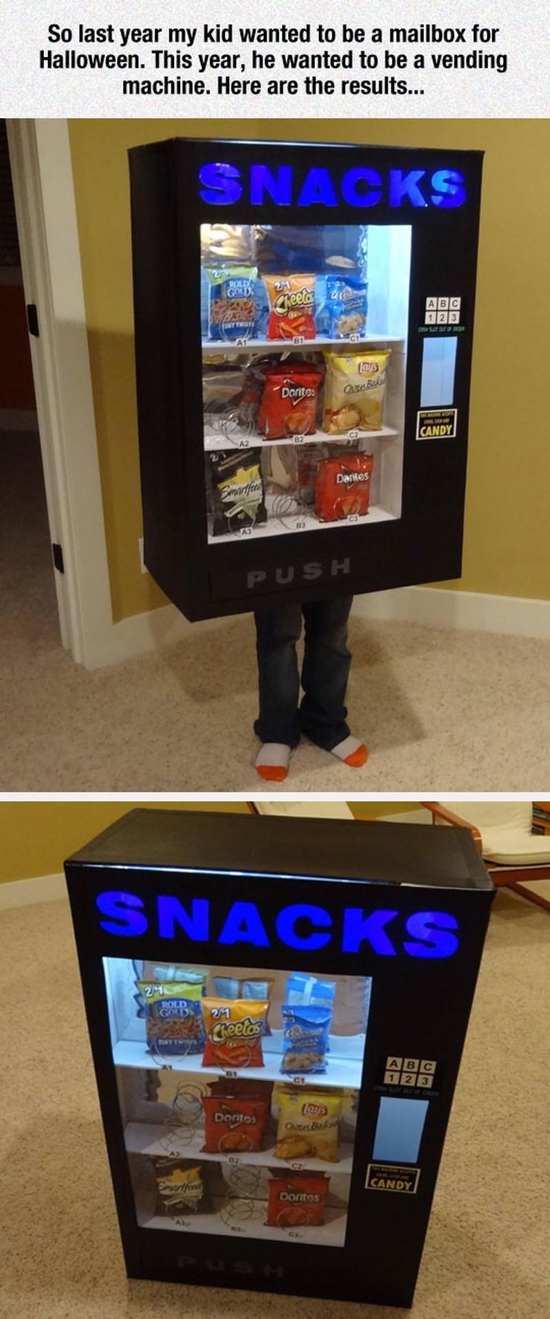 Vending machine costume - meme