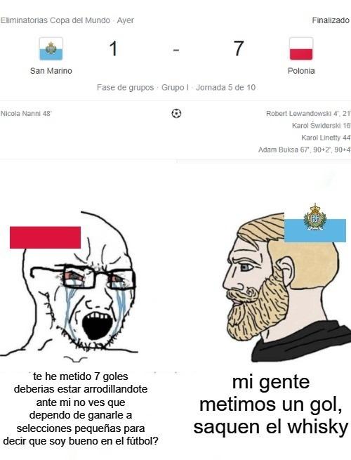 que le den al Argentina vs Brasil, veamos el golazo que se hizo San Marino - meme
