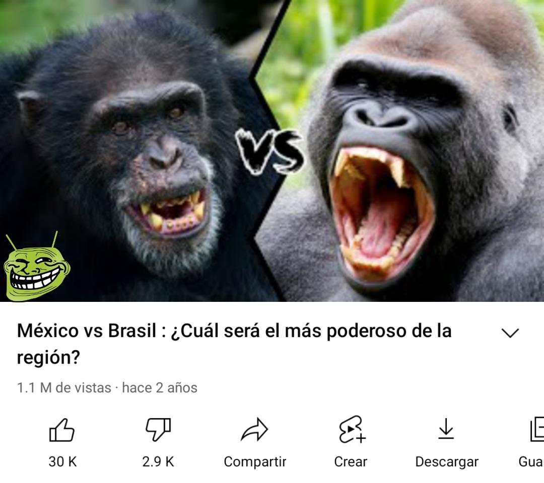 Mexichangos vs Brasil - meme