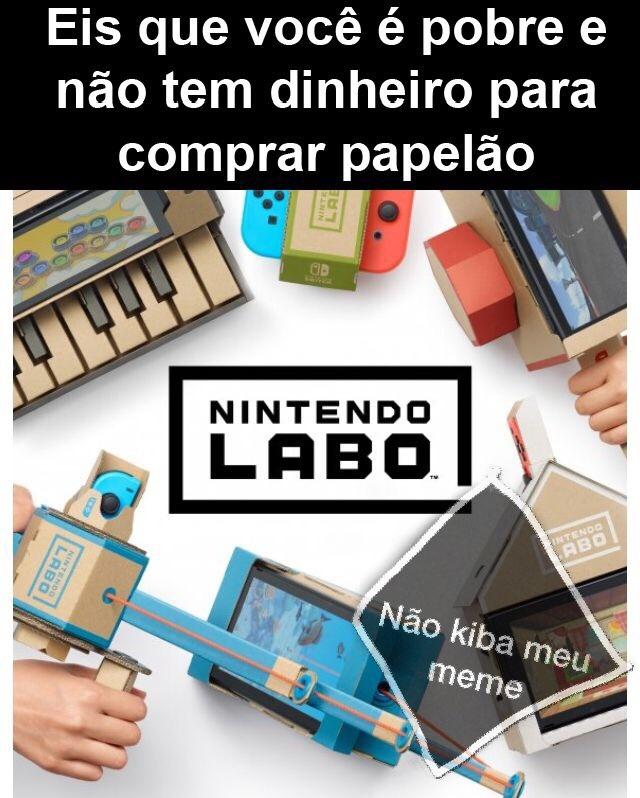 o título tá montando o Nintendo labo - meme