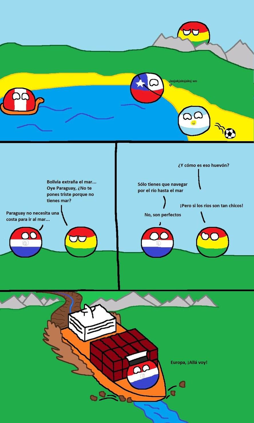 Tenemos el Río Paraguay para salir - meme