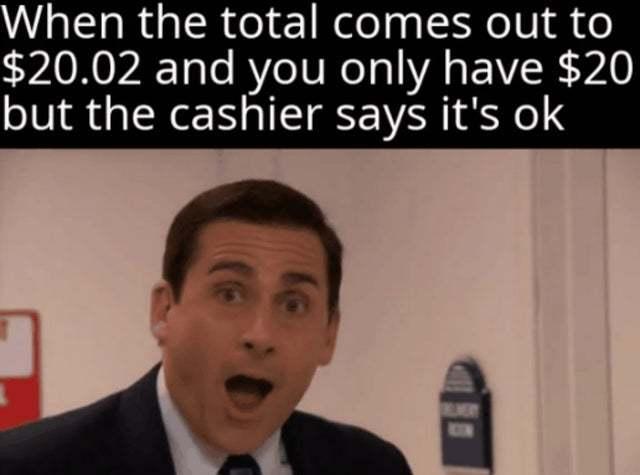 Nice cashier - meme