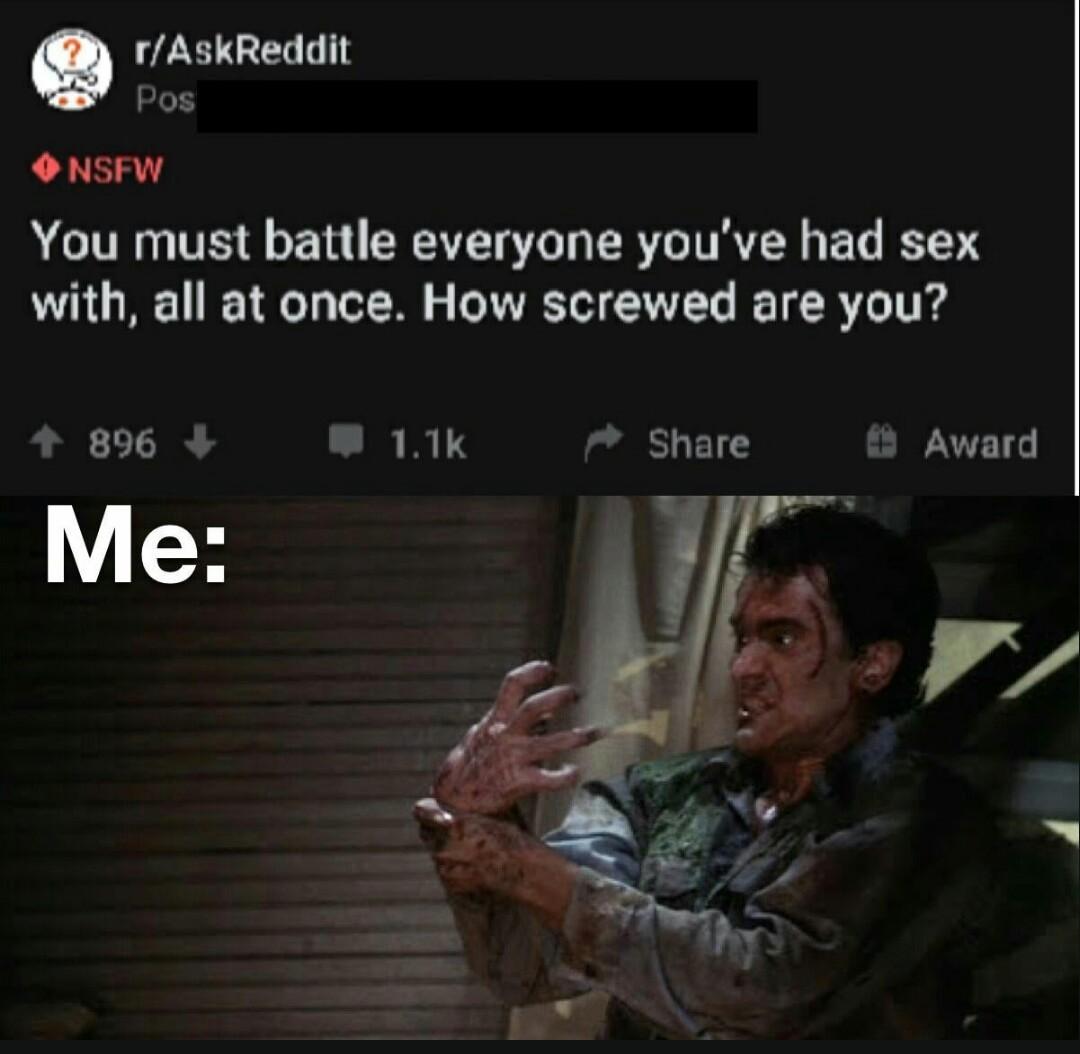 A battle we never expected. - meme