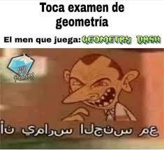 el titulo juega geometri dash xd - meme