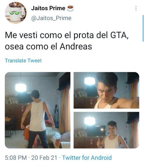 A si mi personaje favorito de GTA el andreas - meme