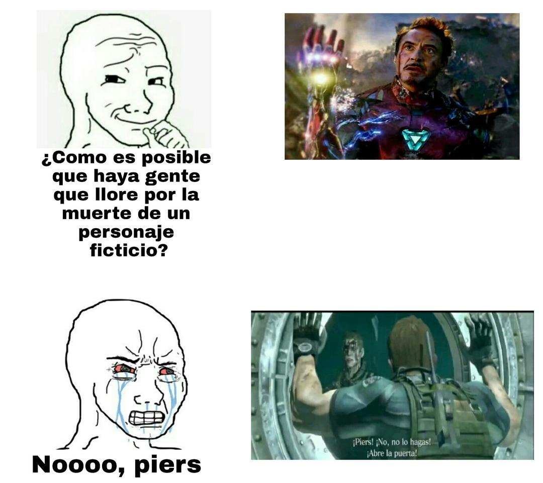 """""""Pero iron man era un pendejo :crying:"""" Pero igualmente los 2 siguen siendo personajes ficticios - meme"""
