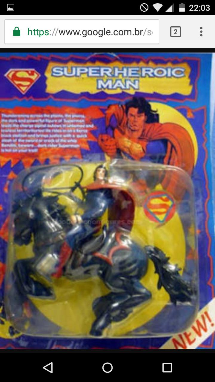 O que seria do superman sem seu cavalo alazão - meme