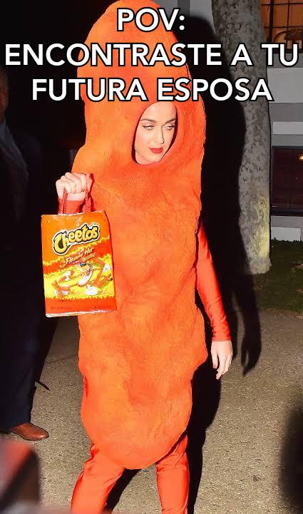 Joder que rico cheetos - meme