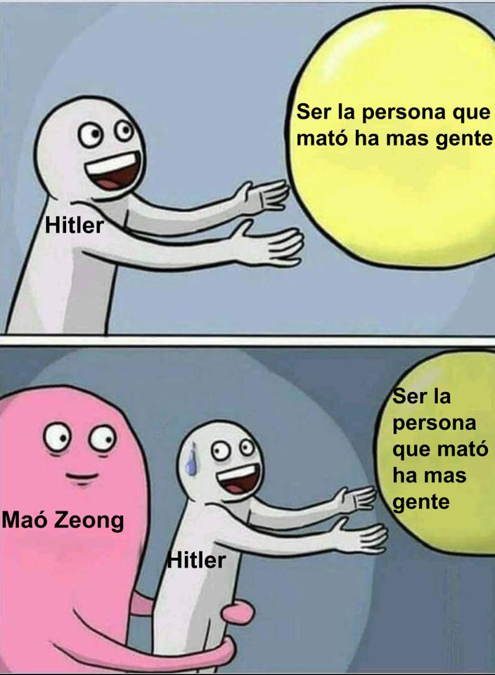 Hecho por los comentarios(la idea). Mao Zeong mató a 70M de chinos creo - meme